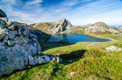 Covadonga jeziora, Picos De Europa Hiszpanii asturii Fotografia Royalty Free
