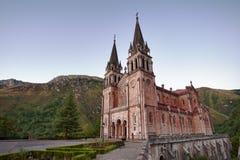 Covadonga kyrka Arkivfoton