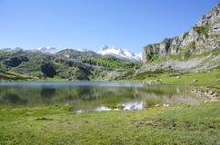 Covadonga lake Royalty Free Stock Photography