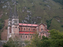 Covadonga monastery. Monastery high in the mountains in Covadonga (Spain Royalty Free Stock Photos