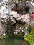 Covadonga Sanctuary. Sanctuary of Covadonga. Little church placed in a cliff. Covadonga, Asturias, Spain Stock Photos
