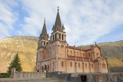 Covadonga From Side Stock Images