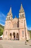 COVADONGA, SPAIN - SEPTEMBER, 04 : celebrating a mass at Covadonga Basilica in Asturias, Spain Royalty Free Stock Image