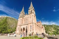 COVADONGA, SPAIN - SEPTEMBER, 04 : celebrating a mass at Covadonga Basilica in Asturias, Spain Stock Photo