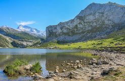 Scenic view in Covadonga, Asturias, northern Spain stock photos