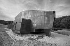 COVARRUBIAS,西班牙- 10月11 :现代木和金属nord 免版税库存照片