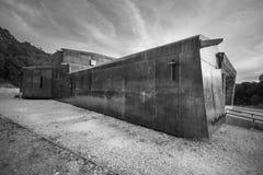 COVARRUBIAS,西班牙- 10月11 :现代木和金属nord 库存照片