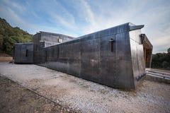 COVARRUBIAS,西班牙- 10月11 :现代木和金属nord 免版税图库摄影