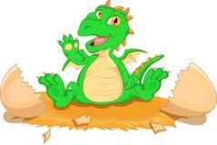 Covata sveglia del fumetto del dinosauro illustrazione di stock