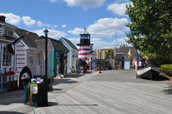 Cove上尉的在桥港,康涅狄格 图库摄影