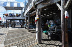 Cove上尉的在桥港,康涅狄格 免版税库存照片