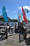 Cove上尉的在桥港,康涅狄格 免版税库存图片