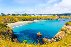 Cove Azure Water Mendocino Main Street Houses H Royalty Free Stock Images