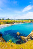 Cove Azure Water Mendocino Main Street Houses V Royalty Free Stock Images