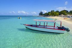 Cove Beach医生的在牙买加,加勒比 库存图片