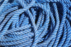 Cove of blue marine rope closeup Stock Photo