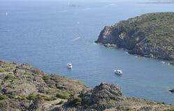 Cove at the Cap de Creus royalty free stock photo