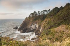 Cove at Cape Disappointment in sunset Stock Photos