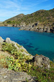 Cove with clear water in Mediterranean sea Stock Photos