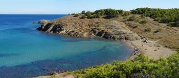Cove with clear waters in the Mediterranean sea Stock Image