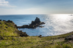 Cove on the Coast of Cornwall Royalty Free Stock Photo