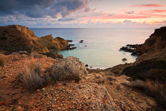 Cove on the coast of Crete, Greece. Stock Photography