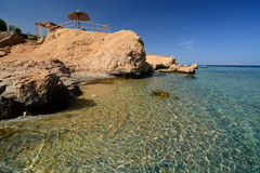 Cove and coral reef. Sharm El Sheikh. Red Sea. Egypt Royalty Free Stock Photos