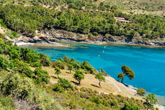 Cove in the Costa Brava, Catalonia, Spain Royalty Free Stock Photos