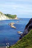 Cove at Durdle Door, Dorset. Jurassic coastline at Durdle Door, Dorset Stock Photography