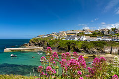 Cove and harbour of Port Isaac, Cornwall, England Royalty Free Stock Photos