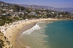 Cove at Laguna Beach. This is a picture of a cove at Laguna Beach, California, on a busy summer day Stock Photos