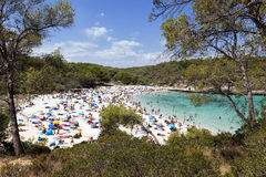 Cove in Majorca. Plenty of swimmers Stock Photography