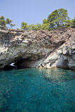 A cove at mediterranean sea Royalty Free Stock Photography