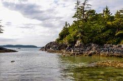 Cove near Tofino. West coast scenery near Tofino British Columbia on Vancouver Island Royalty Free Stock Image