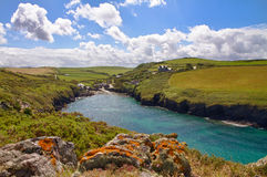 Cove at Port Quin, Cornwall, England. UK Royalty Free Stock Images