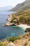 Cove in reserve of the zingaro in sicily Stock Image