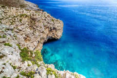 Cove in the rocky beach on Adriatic sea Stock Images