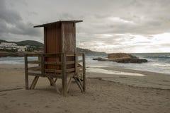 Cove in San Antonio de Ibiza a cloudy day. Spain royalty free stock photos