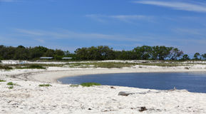 Cove on a sandy beach on the Gulf of Mexico Coast Stock Image