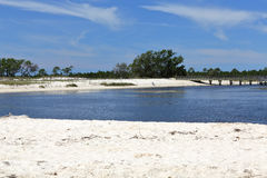 Cove on a sandy beach on the Gulf of Mexico Coast Royalty Free Stock Images
