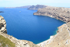 Cove at Santorini Island, Greece Stock Photo