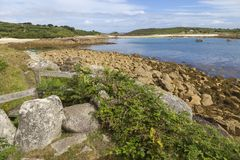 The Cove, St Agnes, Isles of Scilly, England Stock Images