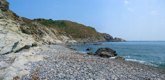 Cove in the Vermilion Coast. Cove with cliff near Port-Vendres in the Vermilion Coast Stock Images