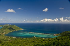 Cove on Virgin Gorda island  Stock Photos