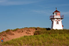 Covehead Lighthouse. In Stanhope, Prince Edward Island Royalty Free Stock Images