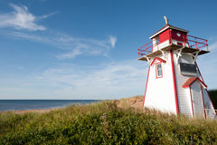 Covehead Lighthouse. In Stanhope, Prince Edward Island Stock Image