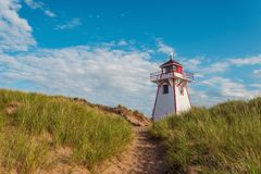 Covehead Lighthouse in Stanhope Stock Photo