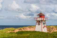 Covehead Lighthouse in Stanhope. (Prince Edward Island, Canada Royalty Free Stock Image