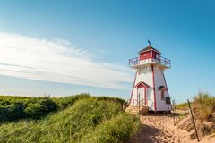 Covehead Lighthouse in Stanhope Royalty Free Stock Photography