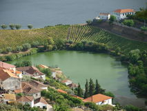 Covelinhas village on Douro Valley Stock Photos